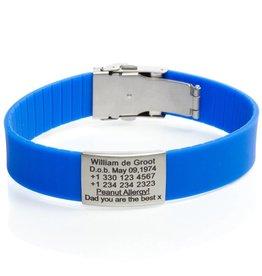 Identification bracelet blue