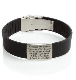 Sport ID bracelet black