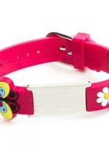 SOS armbandje kind fuchsia roze