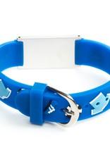 medische armband voetbal blauw