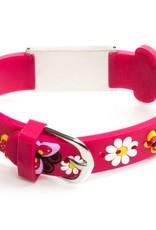 Medische naam armband kind roze