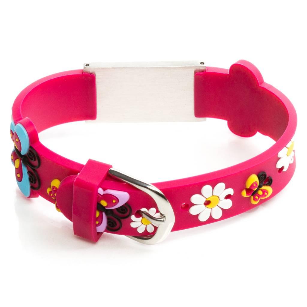 Allergy bracelet kids dark pink