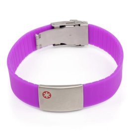 Medical bracelet purple