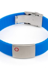Allergy identification bracelets Blue
