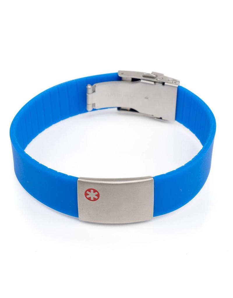 Armband medische gegevens Blauw