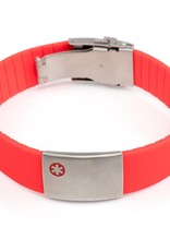 Medical ID bracelet red