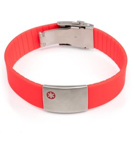 SOS armband medische Rood