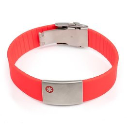 Medical ID bracelet red