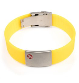 Medical ID bracelet yellow