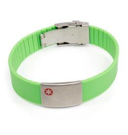 Sport medical ID bracelets Green