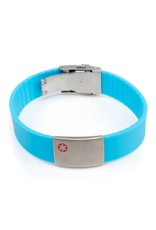 Allergy ID bracelet light blue