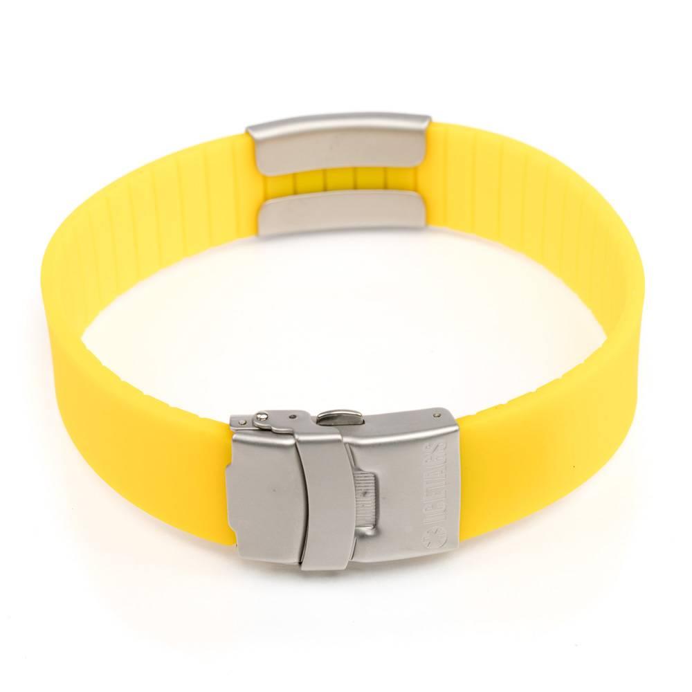 Medical ID bracelet yellow