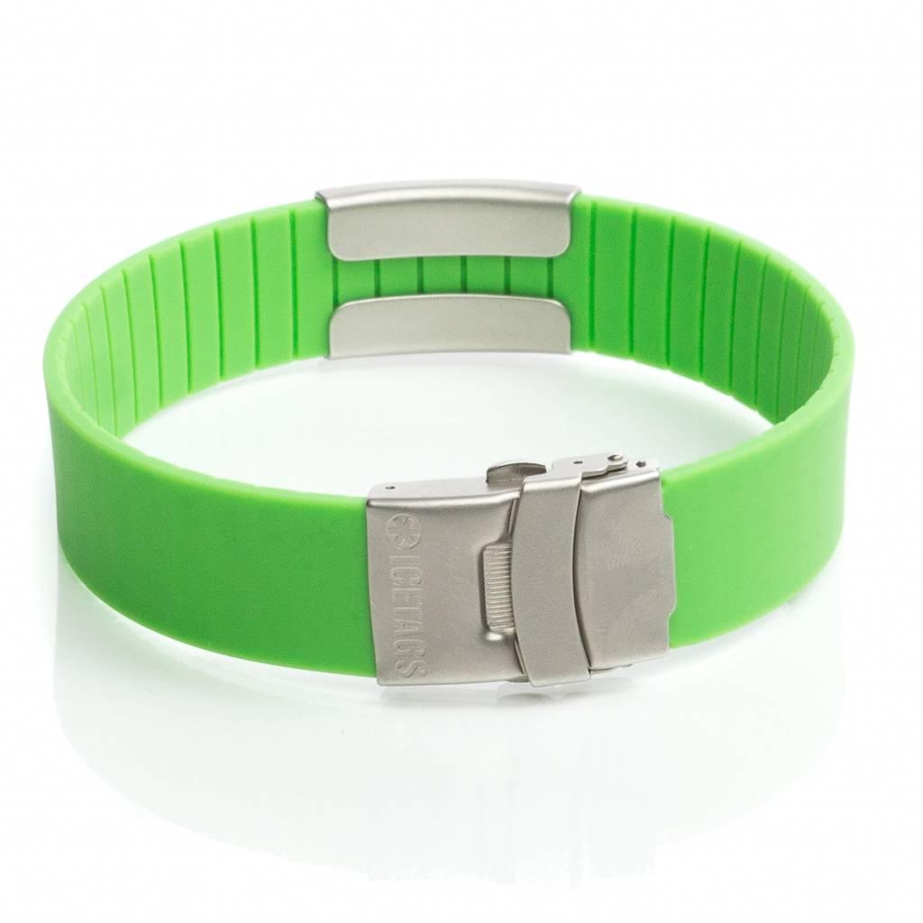 Icetags allergie armband Groen