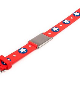 Child ID bracelet red stars