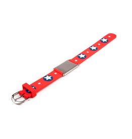 Child ID bracelet red stars