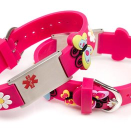 Allergy bracelet kids dark pink