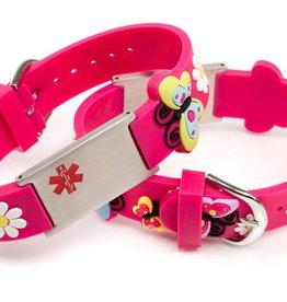 Medische kinderarmband kind roze