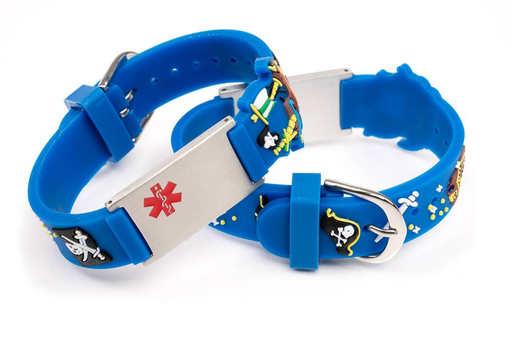 Medical ID tags for kids pirates