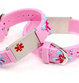 Medische Naambandje kind licht roze