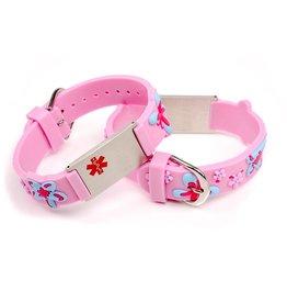 Medical allergy bracelet light pink