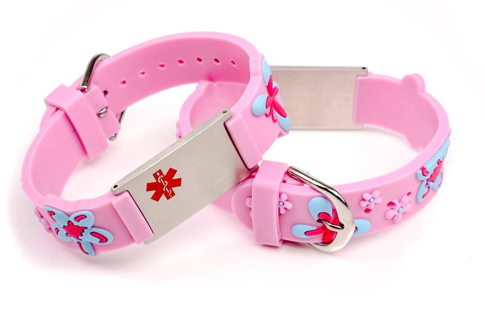 Medisch Naambandje kind medisch licht roze