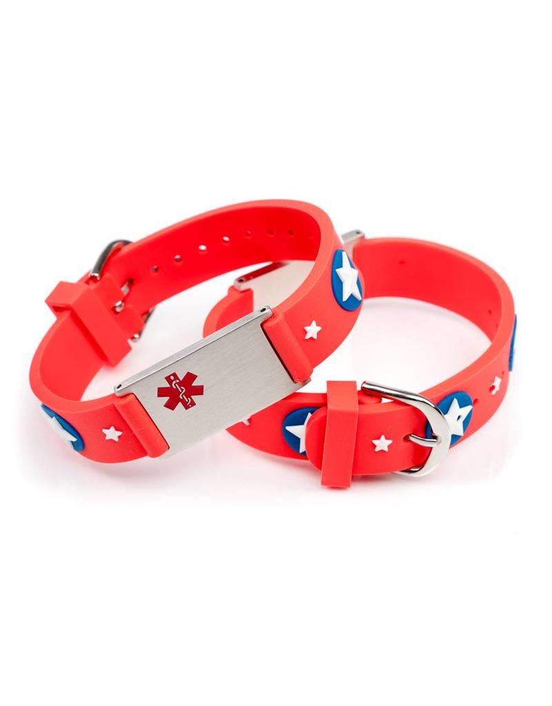 Allergy Medical alert ID bracelet kids