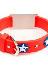 Allergie armband Rood sterren