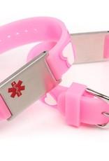 Medical kids bracelet pink hearts