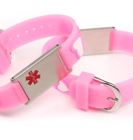 Medical kids bracelet pink hearts