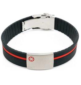 Medische armband met gekleurde band
