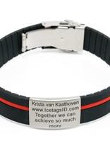 SOS armband streep rood/groen/blauw