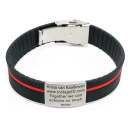 ID bracelet dual colors