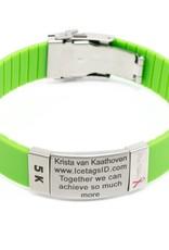 SOS armband Groen