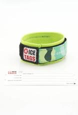 Nylon ID bracelet with card inside