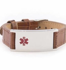 Stylish brown ID bracelet