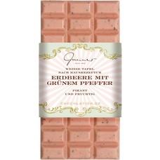 Confiserie Gmeiner WEISSE SCHOKOLADE Erdbeer mit grünem Pfeffer