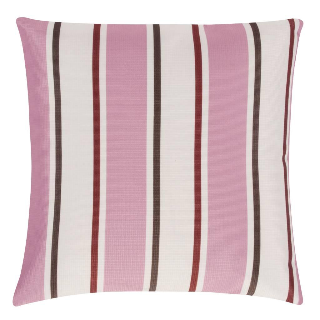 pad concept outdoor kissen gestreift pink 45x45 cm. Black Bedroom Furniture Sets. Home Design Ideas