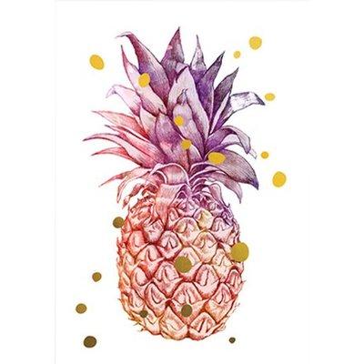 Prints Eisenherz MINIPOSTER Ananas & die goldenen Punkte