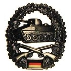 MFH BW toque badge, armored infantryman, metal