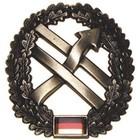 MFH BW toque badge, PSV, metal