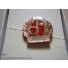Original Militär NVA Abzeichen Wehrerziehung, bronze