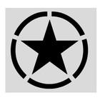 Guntia Militaria Aufkleber US-Star