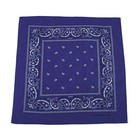 MFH Bandana, royal blue-white