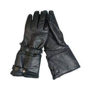 Mil-Tec motorcycle gloves, leather, black