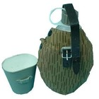 Original Militär NVA Feldflasche mit Becher