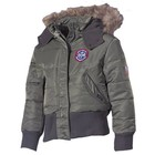 MFH US Kids Polar Jacket, N2B, OD green