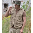Mil-Tec hunting and fishing vest, khaki