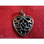 Anderswelt Import pendant antique brass-look Celtic Heart