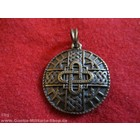 Anderswelt Import pendant antique brass-look Merowinger Amulett