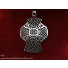 Anderswelt Import Pewter Pendant celtic cross, long